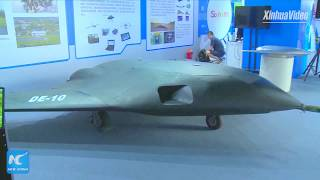 New China TV - DE-10 Stealth UCAV Unveiled At Shanghai Innovation Expo 2017 [1080p]