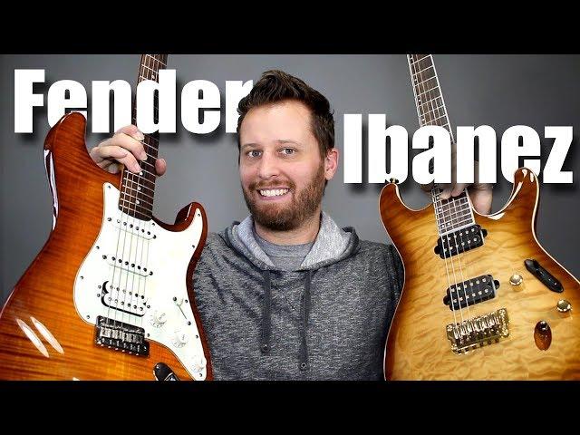 FENDER HSS STRAT vs IBANEZ PRESTIGE - Guitar Tone Comparison!!