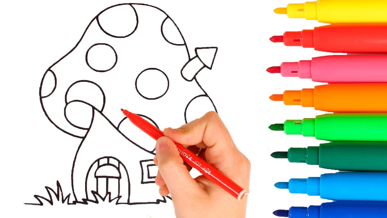 learning colors for children the smurfs coloring sheet youtube