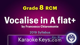 Vocalise in A flat Major by Francesco Chiaromonte.  Grade 8 RCM.  Karaoke Piano with Lyrics