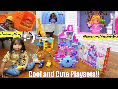 Construction Toy Playset. Disney Cinderella Castle Palace Playset. Fisher-Price Little People