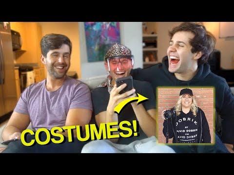 REACTING to VLOG SQUAD COSTUMES! ft. David Dobrik & Josh Peck