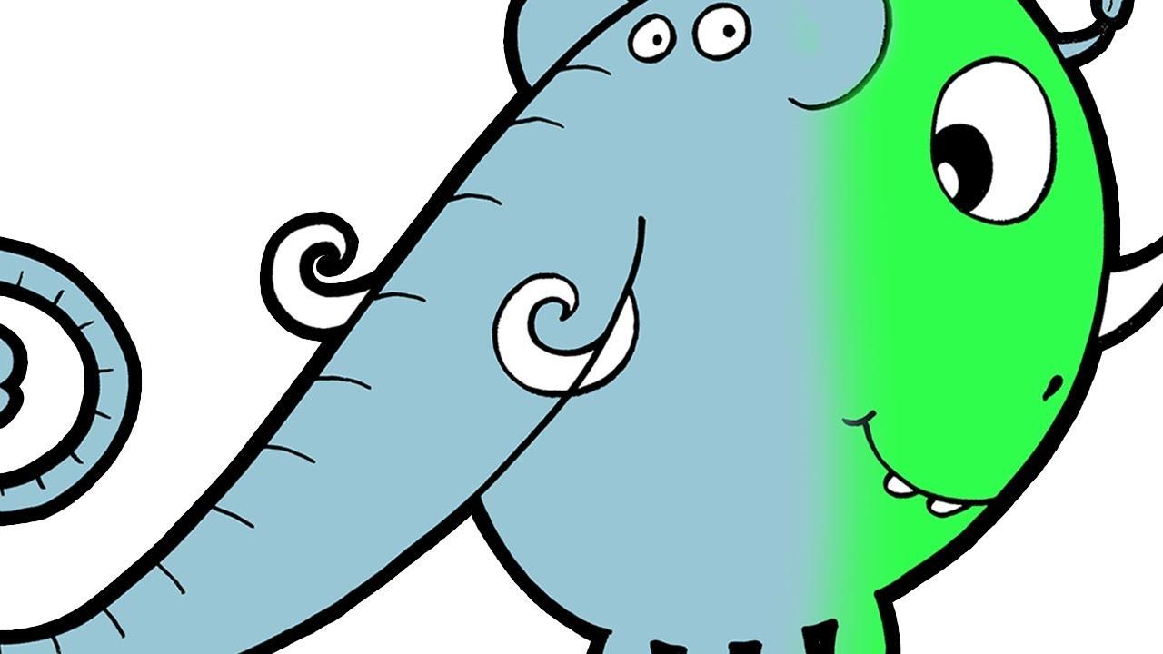 Elefant eller dinosaur? Lær å tegne dyr | Lille-Øistein drodler