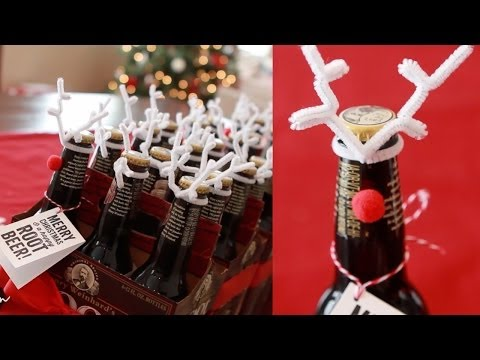 Inexpensive Holiday Neighbor & Co-Worker Gifts - Root Beer Reindeer!