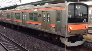 【南武線から転属!】武蔵野線205系M51編成新三郷駅発車 thumbnail