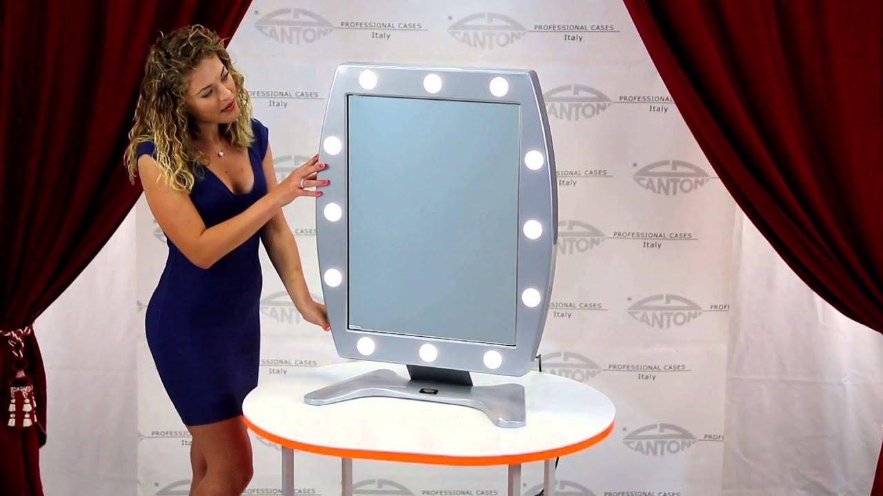 Specchio trucco illuminato con 12 luci da tavolo cantoni video guide youtube - Specchio trucco illuminato ...