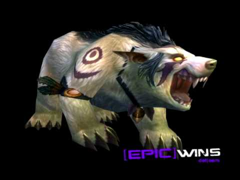 WoW Patch 3.2 Night Elf Druid Bear Form Preview - YouTube