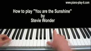 You Are The Sunshine of my Life Piano Tutorial Stevie Wonder