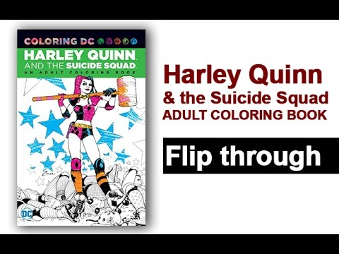 Harley Quinn The Suicide Squad Adult Coloring Book
