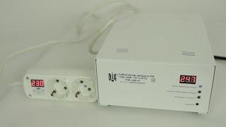 Стабилизатор напряжения ДІА-Н СН-3000 видео обзор