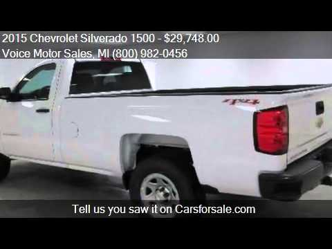 2015 chevrolet silverado 1500 ls 4x4 wt regular cab long for Voice motors kalkaska michigan
