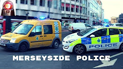 Police Cars Responding in Liverpool UK (Merseyside Police)