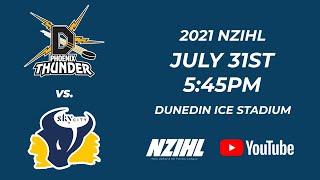 NZIHL 2021 | Phoenix Thunder vs. Skycity Stampede | 31st July 2021