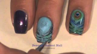 Peacock accent Nail Tutorial