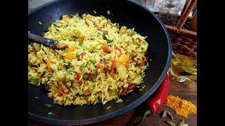 Рис с овощами . Постный рецепт рассыпчатого риса.