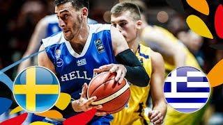 LIVE 🔴 -  Sweden v Greece - Class. Game 13-14 - FIBA U20 European Championship 2018