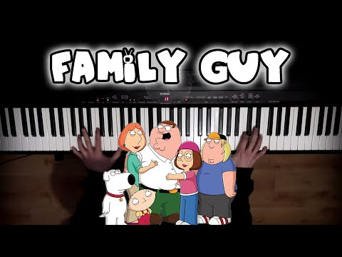 Family Guy Theme on Piano   Rhaeide