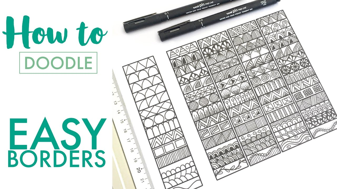 How To Doodle Easy Borders Mindful Doodling Youtube