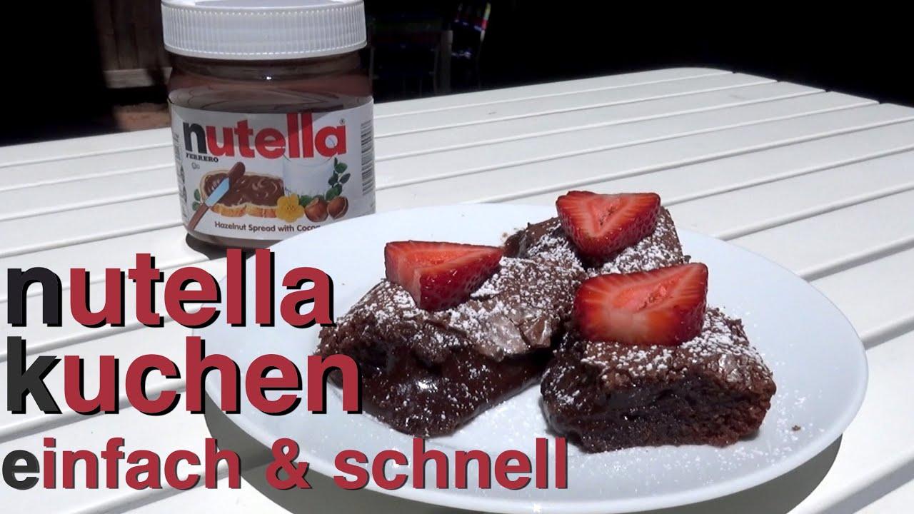 nutella kuchen rezept nur 2 zutaten innen lava fl ssig beste nutella youtube. Black Bedroom Furniture Sets. Home Design Ideas