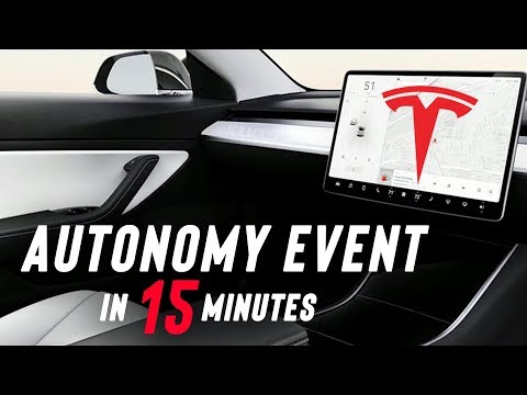 Tesla Autonomy Day Event in 15 Minutes! (Robotaxi & Full Self-Driving)