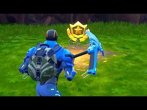 Fortnite Week 4 Treasure Location - Battle Pass Challenges!