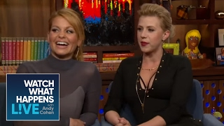 Fuller House Girls Dish On John Stamos, Bob Saget, And Dave Coulier | WWHL