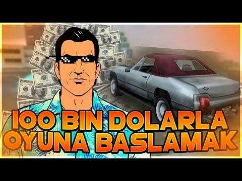 HİLESİZ 100 BİN DOLARLA OYUNA BAŞLAMAK! GTA Vice City TAKTİKLERİ