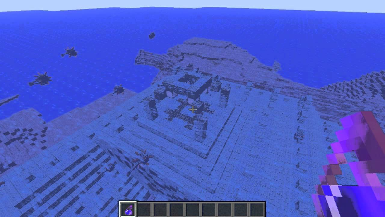 minecraft underwater house how to get rid of water