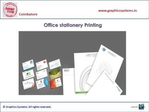 Office Stationery Designing Services in Coimbatore