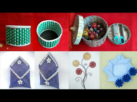 5 ideas of Newspaper craft | best out of waste craft idea | recycle newspaper | HMA##420