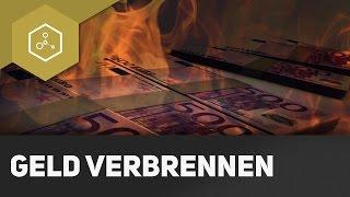 Geldschein verbrennen - Verdampfungsenthalpie