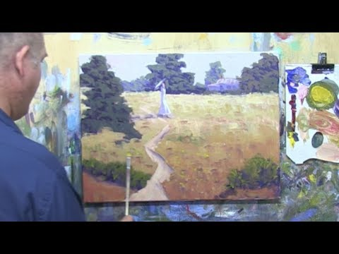 "Learn To Paint TV E16 ""Country Walk In Summer"" Landscape Painting in Acrylic Paint For Beginners."