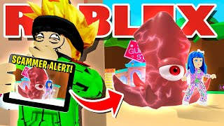 USING SECURITY CAMERAS TO CATCH WORST SECRET PET  *SCAMMER* IN ROBLOX BUBBLEGUM SIMULATOR EVER!!