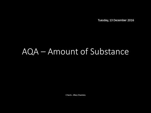AQA 1.2 Amount of Substance REVISION