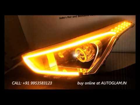 AGHCA901L, HYUNDAI Creta AUDI Style DRL AES 55 watt, 6000K XENON HID Projector Headlights 2