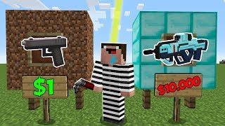 Дорогое или Дешевое Оружие в Майнкрафт ! Что Купит Преступник? Неудачник Нуб в Minecraft Мультик