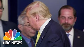 Trump Walks Away While Asked If He Has Been Tested For Coronavirus | NBC News NOW