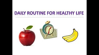Video title #daily routine for healthy life | lifestyle tips health no. 1 . this is about which should be fol...