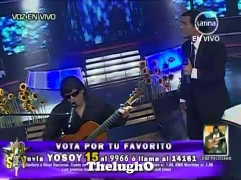 Yo Soy JOSE FELICIANO y JULIO IGLESIAS Porque Te Tengo Que Olvidar - El Duo [04/12/12]