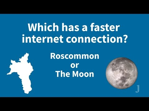 FactCheck: Is there faster broadband on the moon than in Roscommon?