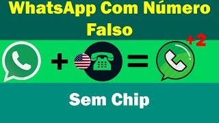 COMO CRIAR CONTA FALSA NO WHATSAPP COM NÚMERO FALSO FAKE