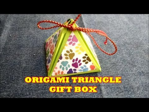 Gift Box making with paper|  Origami Gift Box | Easy Paper Pyramid Gift Box | Paper Crafts