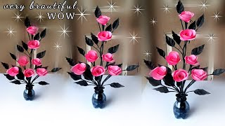 how to make a beautiful flower for home decoration / how to make flower at home easy