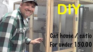 Amazing DIY, Cat House/Catio for under 150.00 stray Cat and Kittens found a home