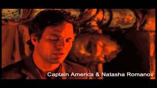 Капитан америка и Наташа Романов