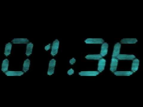 2 minute countdown timer digital blue youtube