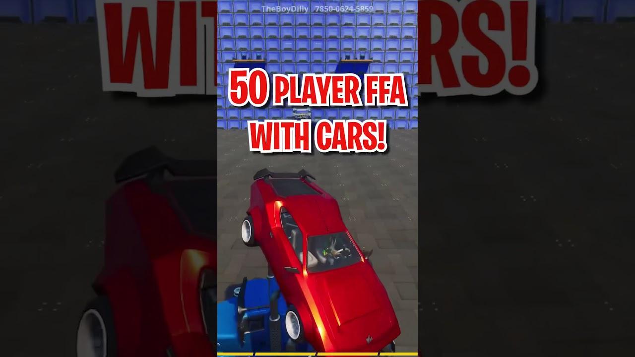 50 Player FFA - CARS + CHOPPA | Creative #Shorts