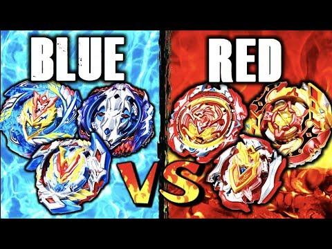 Blue Beyblades Vs Red Beyblades Beyblade Burst Color