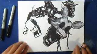 "Cómo dibujar a Mangle ""Five Nights at Freddy´s | How to draw Mangle 2 by ZaXx"