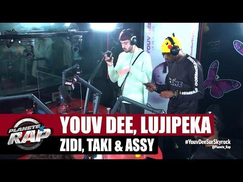 Youtube: Youv Dee – Session freestyle avec Lujipeka, Zidi, Taki & Assy! #PlanèteRap